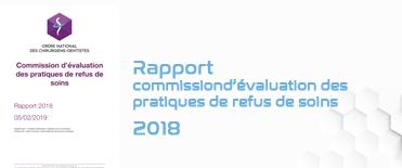 Rapport de la commission d'évaluation des pratiques de refus de soins 2018