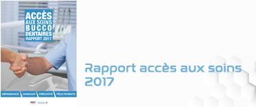 Rapport accès aux soins buccodentaires 2017